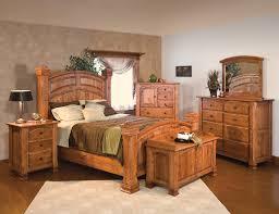 Solid Wood Bedroom Furniture : Luxury Amish Rustic Cherry Bedroom Set Solid  Wood Full Queen King