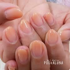 Pookaluna さんのネイルデザイン 人気カラーのオレンジベージュ