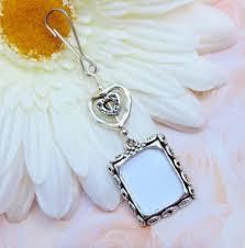wedding charm bridal bouquet hearts photo jewelry memorial