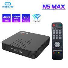 Magicsee N5 Max Amlogic S905X3 Android 9.0 TV BOX 4G 32G/64G Rom 2.4+5G  Dual Wifi BT 4.1 8K Set Top Box|Set-top Boxes