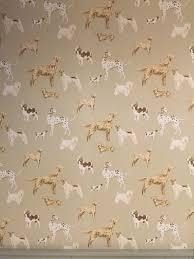 Patterned Wallpaper Simple Hunterhill Dog Dark Linen Patterned Wallpaper By Laura Ashley
