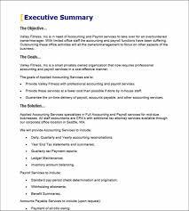 Executive Summary Sample For Proposal 19 Executive Summary Sonovi Be Records