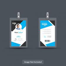 Identity Card Design Design Of Id Card Blue Id Card Design Template Vector Premium