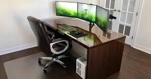 full size of desk multi monitor desks tel front desk description me to way