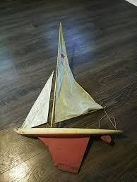 vintage keystone large toy sailboat