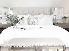 white and white furniture. how to style your bedroom like a fancy hotel white and furniture
