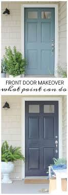 front door makeover it s amazing what paint can do