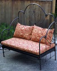iron rod furniture. wrought iron indoor outdoor garden daybed bench on etsy 75693 rod furniture