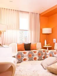 Orange Decorating For Living Room Living Room Ci Suvalsky Designs Mark Byron Orange Living Room