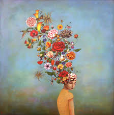 north ina based painter duy huynh previously infuses his acrylic paintings with whimsical elements of visual storytelling where a plume of