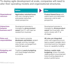 Agile Project Organization Chart An Operating Model For Company Wide Agile Development Mckinsey