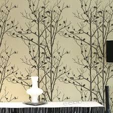large wall stencils for paintingBirds In Trees wall stencil  stencils stencil designs large