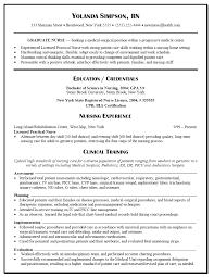 Template New Nurse Graduate Nursing Resume Student Clinical
