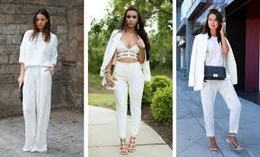 Stylish white pants ideas for ladies Pants Outfit Stayglam 30 Fashionable All White Outfits For Any Season Stayglam