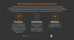 your career at essentia essentia inc three pillars