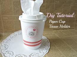 paper cup tissue holder