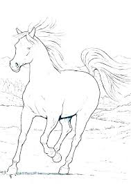 Color Pages Printable Horse Horses Coloring Pages Printable Coloring