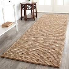 bohemian nelson hand woven wool jute runner rug beige with rubber backing
