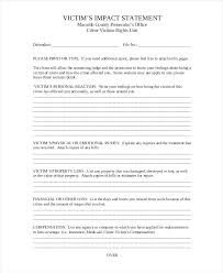 Statement Victim Impact Form Example Mple Domestic Violence Medium ...