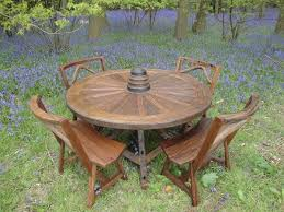 rustic garden furniture. Reclaimed Teak Old Wheel Set Rustic-garden Rustic Garden Furniture