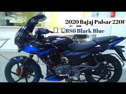 new bajaj pulsar 220f bs6 black blue