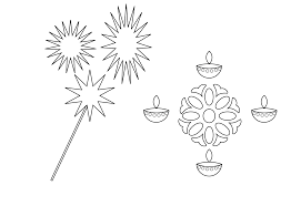 Small Picture Printable Diwali Coloring Page Download