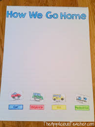 How We Get Home Chart First Week Of School Charts Freebie The Applicious Teacher