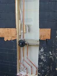 install pipes behind plywood