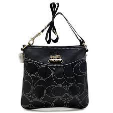 Coach Swingpack In Signature Medium Black Crossbody Bags AWZ