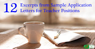 Letter Of Introduction Teacher Gorgeous 48 Excerpts From Sample Application Letters For Teacher Positions