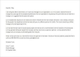 Letter Of Recommendation Examples And Writing Tips Employee With