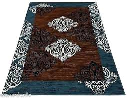 navy white rug mesmerizing blue and brown area rugs carpet new damask 5x7