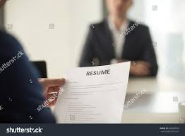 Close View Job Interview Office Focus Stock Photo 666854938