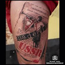 татуировки гос гимн ссср в стиле цветная националистические