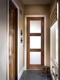 doors three panel glass interior door