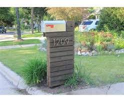 mailbox. Plain Mailbox Dark Walnut Base And Aluminum Mailbox With