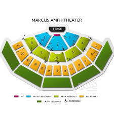 Marcus Amphitheater Seating Chart Concert Tickets Bonnie