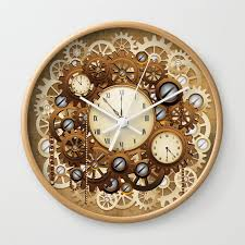 steampunk vintage style clocks and