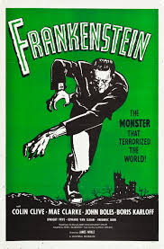 frankenstein vintage horror movie poster  frankenstein vintage horror movie poster 1931 retrographik com