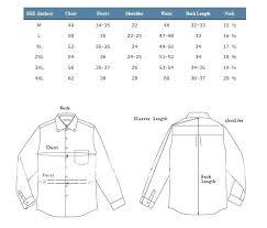 Chest Size Shirt Chart Dress Shirt Size Coreyconner