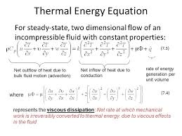 thermal energy equation
