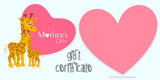 mother s day gift certificate templates printable mothers day gift certificate template customize