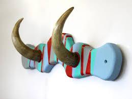 cool coat hooks made of horns