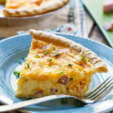 easy ham and cheese quiche y