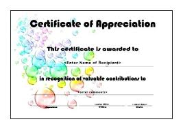 free recognition certificates certificates of appreciation templates for word free