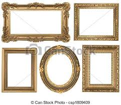Vintage frame design oval Decorative Vintage Detailed Gold Empty Oval And Square Picure Frames Csp1809409 Can Stock Photo Vintage Detailed Gold Empty Oval And Square Picure Frames