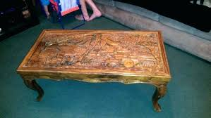 hand carved coffee table hand carved coffee table wood tables furniture antique t handcrafted wooden coffee tables