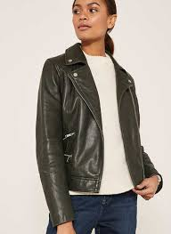 forest green leather biker 265 00 was 370 00