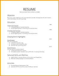 Resume For Teenager First Job No Job Experience Resume Example No