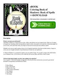 ebook coloring book of shadows book of spells on below to or read this book